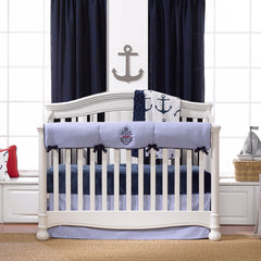 Anchor Monogram Crib Bedding by Liz and Roo