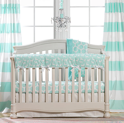 Mint Green Nursery Design Mint Crib Bedding Woodland