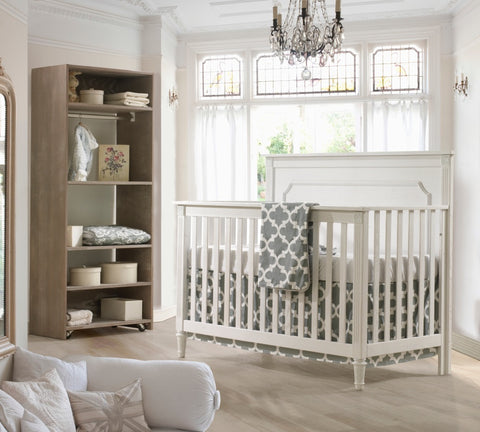 Grey Trellis Gender Neutral Crib Bedding