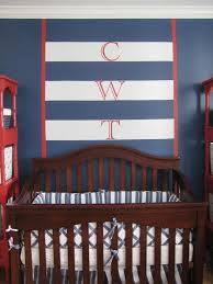 navy wall paint for baby's nursery