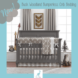 Buck Woodland Crib Bedding in Taupe