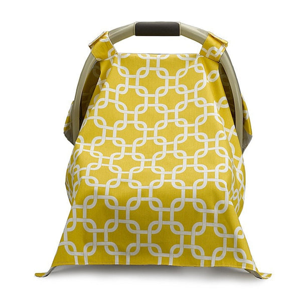 Yellow Metro Carseat Carrier Cover - liz-and-roo-fine-baby-bedding.myshopify.com - 1