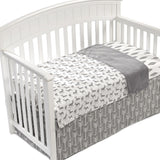 Gray Woodland Crib Blanket