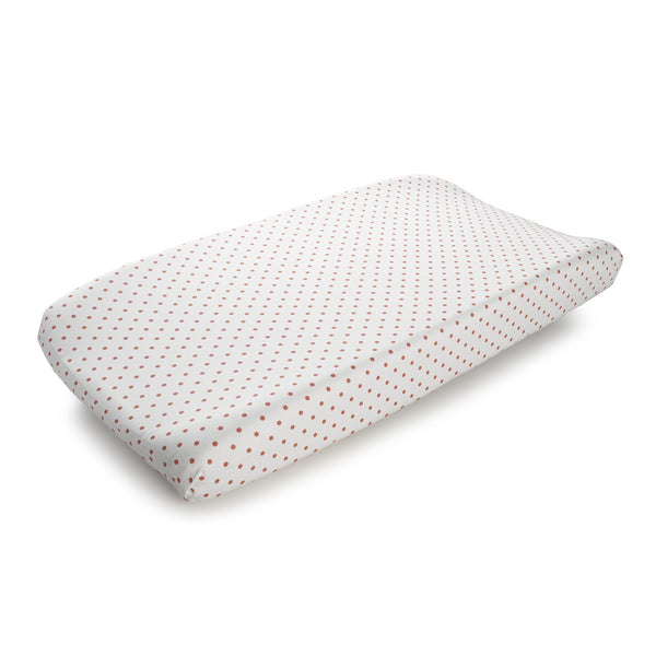 Coral Mini Dots Changing Pad - liz-and-roo-fine-baby-bedding.myshopify.com