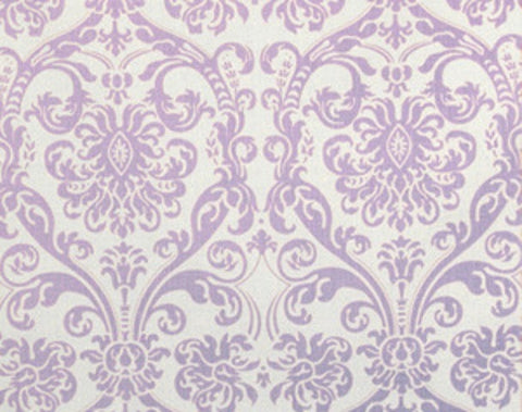 Abigail Lavender Damask Window Treatments