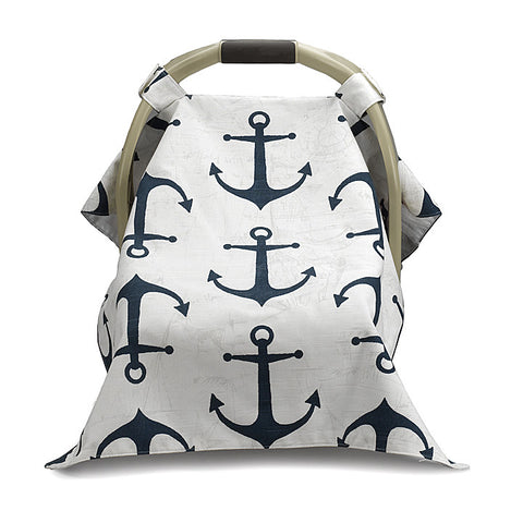 Nautical Anchors Carseat Carrier Cover