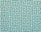 Aqua Greek Key Window Treatments - liz-and-roo-fine-baby-bedding.myshopify.com - 2