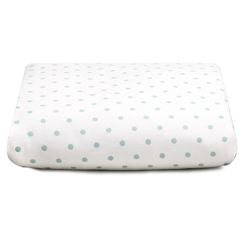 Aqua Mini Dots Crib Sheet