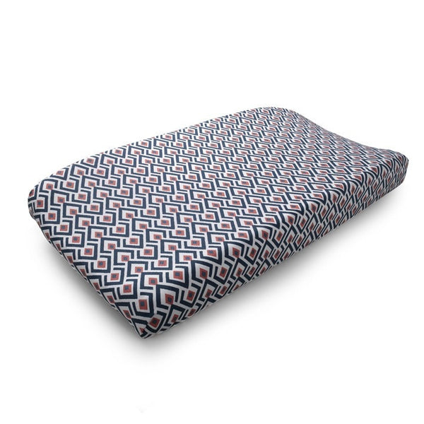 Archery (Navy and Coral) Contoured Changing Pad Cover