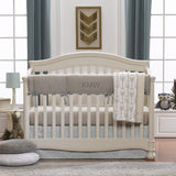 Archery Crib Bedding in Taupe and Aqua