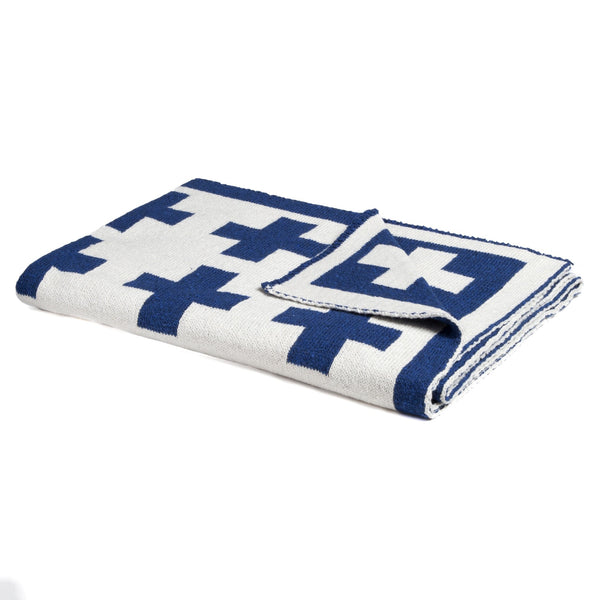 Organic Baby Throw - Swiss Cross - liz-and-roo-fine-baby-bedding.myshopify.com