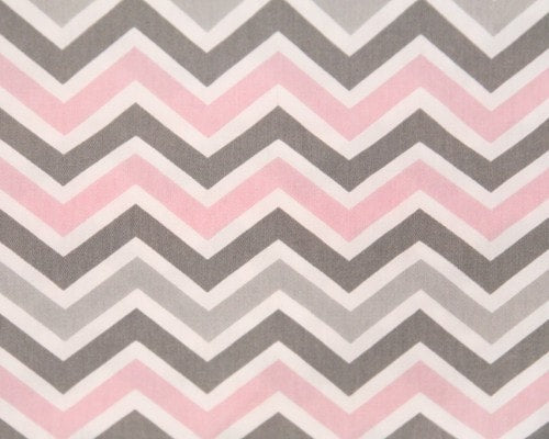 Bella Mini Chevron (Pink and Gray) Euro Sham - liz-and-roo-fine-baby-bedding.myshopify.com