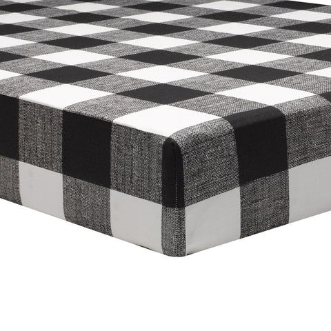 Buffalo Check (Black and White) Crib Sheet