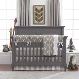 Buck Woodland Bumperless Crib Bedding Set