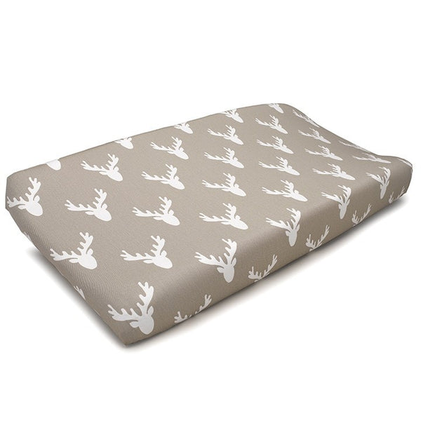 Buck Woodland (Tan) Contoured Changing Pad Cover