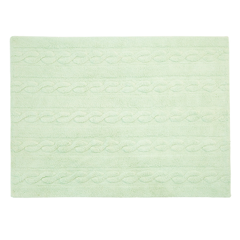 Lorena Canals Braids Soft Mint Rug