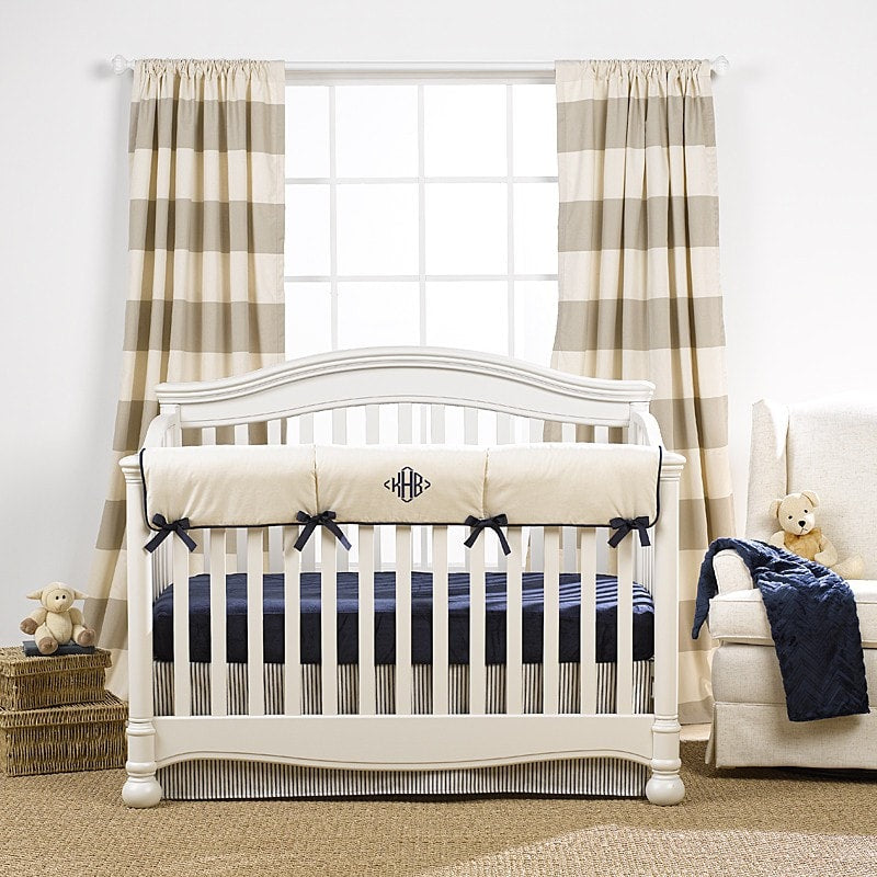 Gender Neutral Crib Bedding Baby Bedding Monogrammed