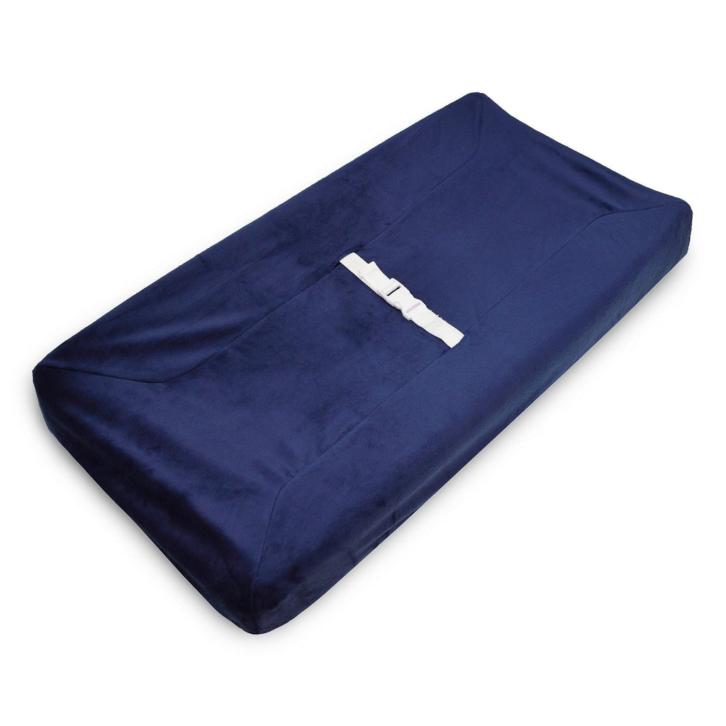 Chenille Changing Pad in Navy - liz-and-roo-fine-baby-bedding.myshopify.com