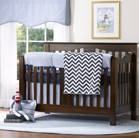 Classic Oxford Crib Skirt - Discontinued Fabric - liz-and-roo-fine-baby-bedding.myshopify.com