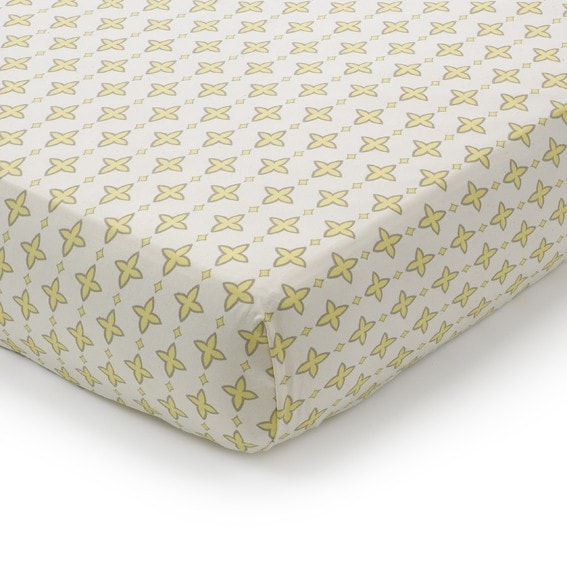 Aggie (Gray and Yellow) Crib Sheet - liz-and-roo-fine-baby-bedding.myshopify.com