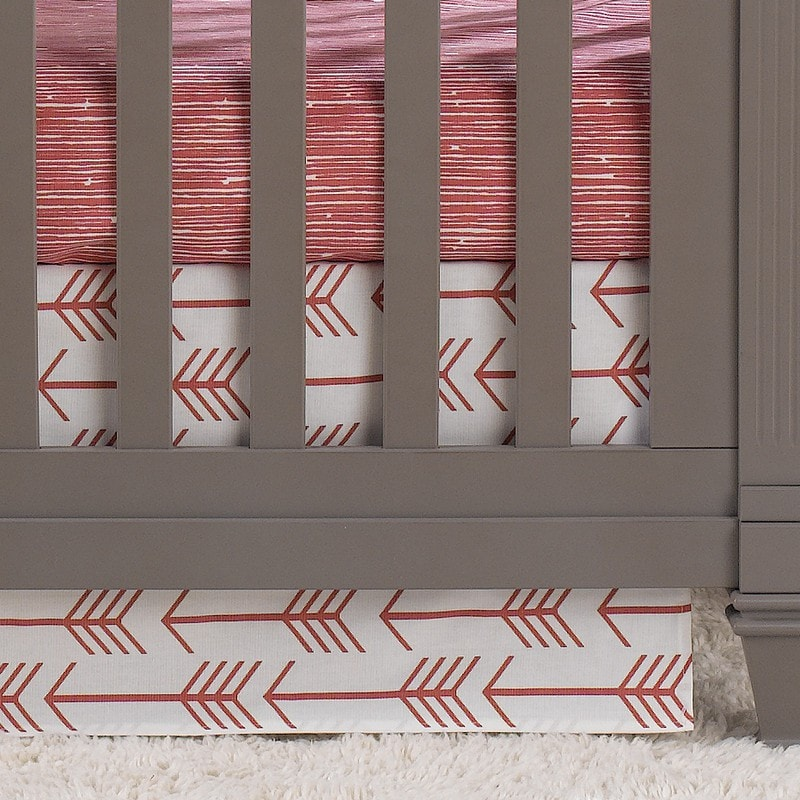 Coral Arrow 2-pc. Crib Bedding - liz-and-roo-fine-baby-bedding.myshopify.com