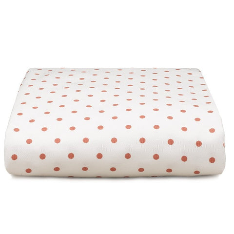 Coral Mini Dots Crib Sheet