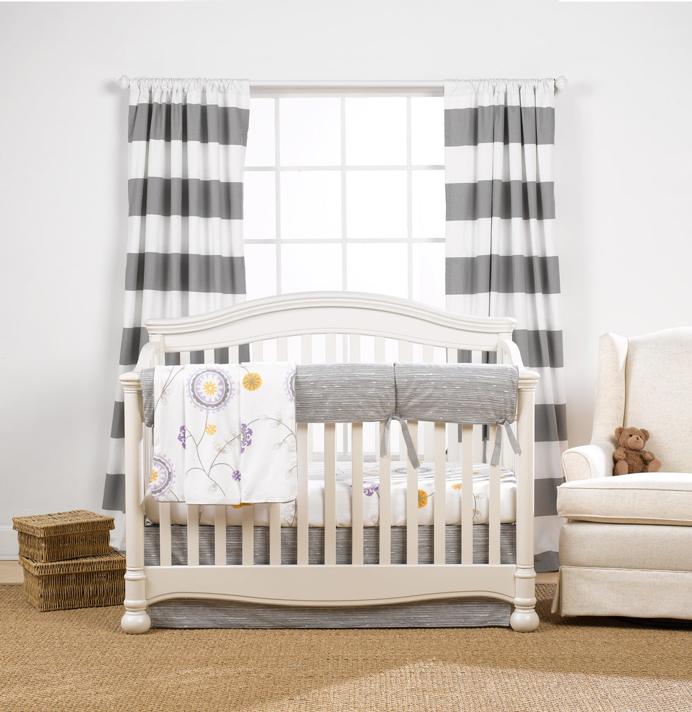 Gray Driftwood Crib Bedding (Bumperless) - liz-and-roo-fine-baby-bedding.myshopify.com - 1