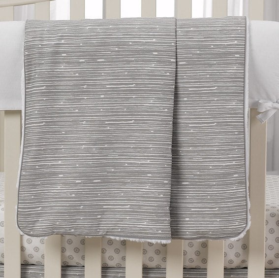 Gray Driftwood Minky Receiving Blanket - liz-and-roo-fine-baby-bedding.myshopify.com