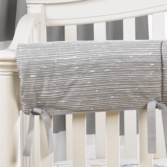 Gray Driftwood Crib Rail Cover - liz-and-roo-fine-baby-bedding.myshopify.com - 1
