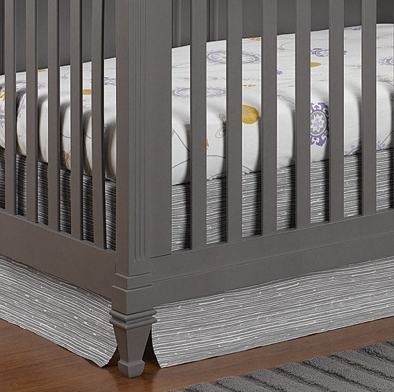 "Gray Driftwood Crib Skirt 17"" Drop - liz-and-roo-fine-baby-bedding.myshopify.com - 1"