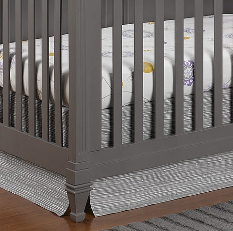 Gray Driftwood Crib Skirt 17