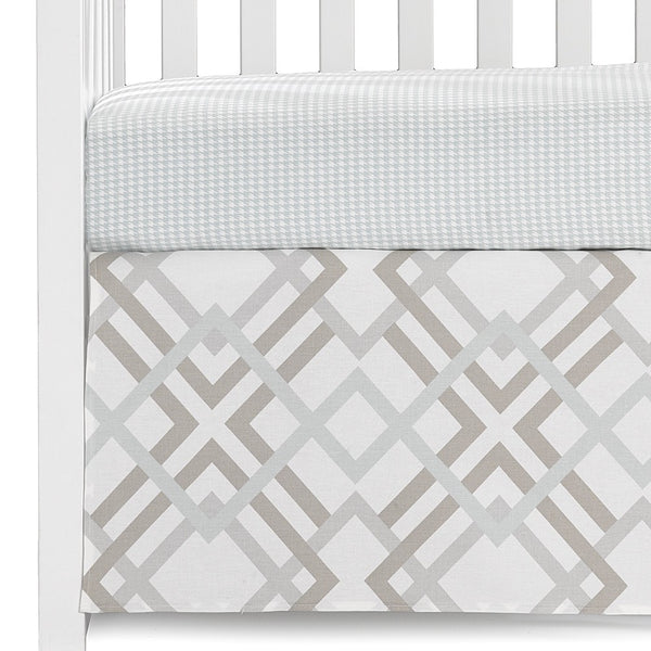 Easton and Seafoam Houndstooth 2-pc. Crib Bedding - liz-and-roo-fine-baby-bedding.myshopify.com - 1