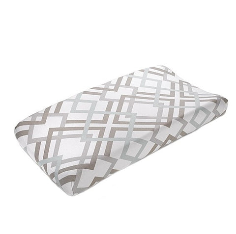 Easton (Gray, Taupe, and Seafoam) Contoured Changing Pad Cover
