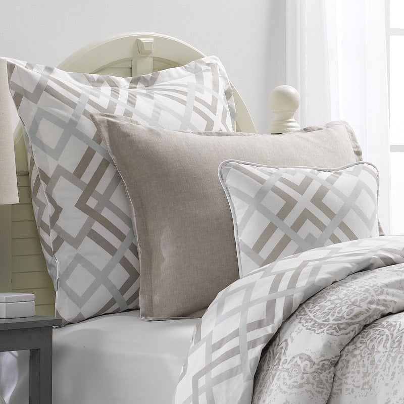 Easton (Gray, Taupe and Seafoam) Accent Pillow - liz-and-roo-fine-baby-bedding.myshopify.com - 1
