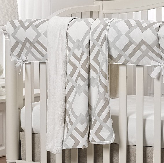 Easton (Gray, Taupe, and Seafoam) Minky Receiving Blanket - liz-and-roo-fine-baby-bedding.myshopify.com