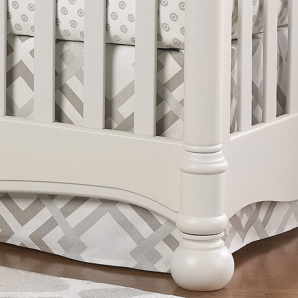 "Easton (Gray, Taupe, and Seafoam) Crib Skirt 17"" Drop - liz-and-roo-fine-baby-bedding.myshopify.com"