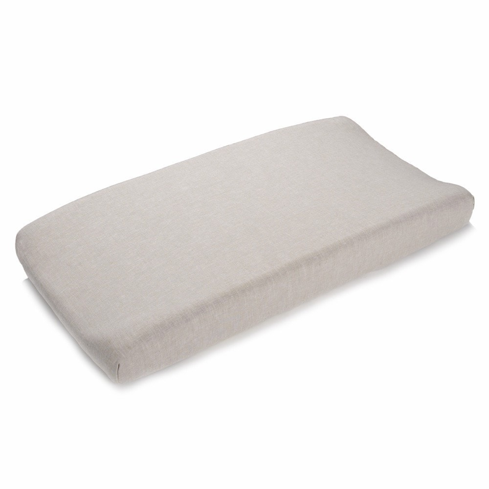 Flax Linen Contoured Changing Pad Cover - liz-and-roo-fine-baby-bedding.myshopify.com