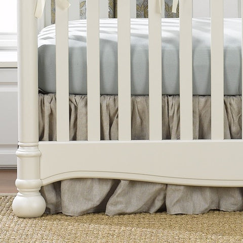 Flax Linen Crib Skirt (Gathered) 16