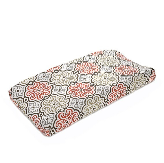 Garden Gate Contoured Changing Pad Cover - liz-and-roo-fine-baby-bedding.myshopify.com