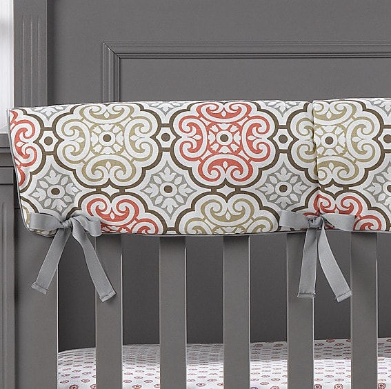 Garden Gate Crib Rail Cover - liz-and-roo-fine-baby-bedding.myshopify.com - 1