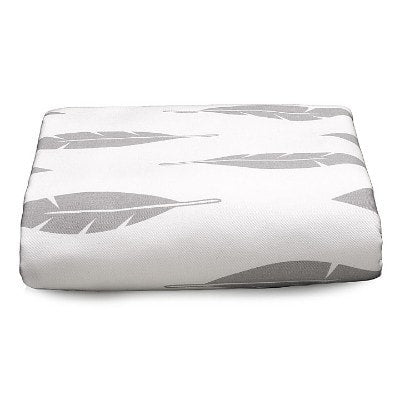 Gray Feathers Crib Sheet