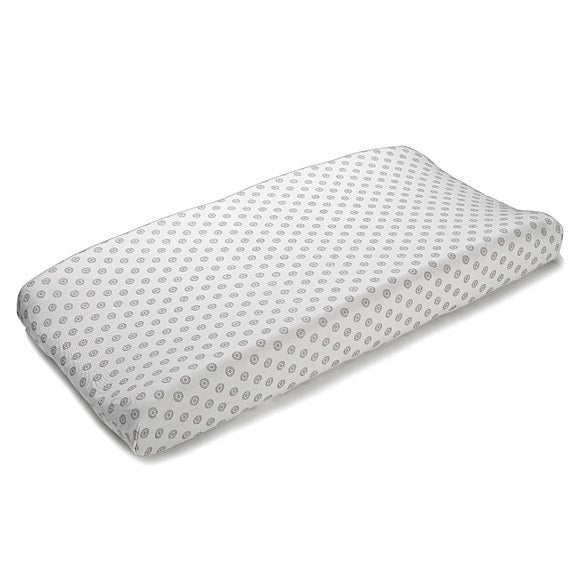 Chelsea Contoured Changing Pad Cover (Gray) - liz-and-roo-fine-baby-bedding.myshopify.com