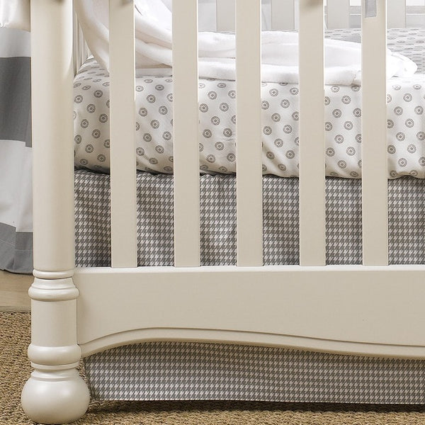"Gray Houndstooth Crib Skirt 17"" Drop - liz-and-roo-fine-baby-bedding.myshopify.com"