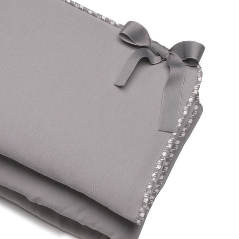 Gray Crib Rail Cover (Gray Houndstooth Trim)