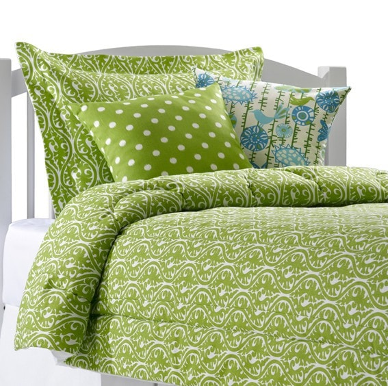 Chartreuse Green Vine Bedding Set (Twin) - liz-and-roo-fine-baby-bedding.myshopify.com