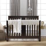 Ivory Toscana Linens Crib Bedding (Bumperless) - liz-and-roo-fine-baby-bedding.myshopify.com - 1