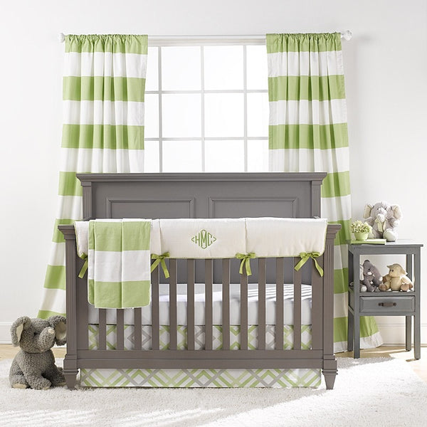 Cabana Stripe Window Treatments - Kiwi - liz-and-roo-fine-baby-bedding.myshopify.com