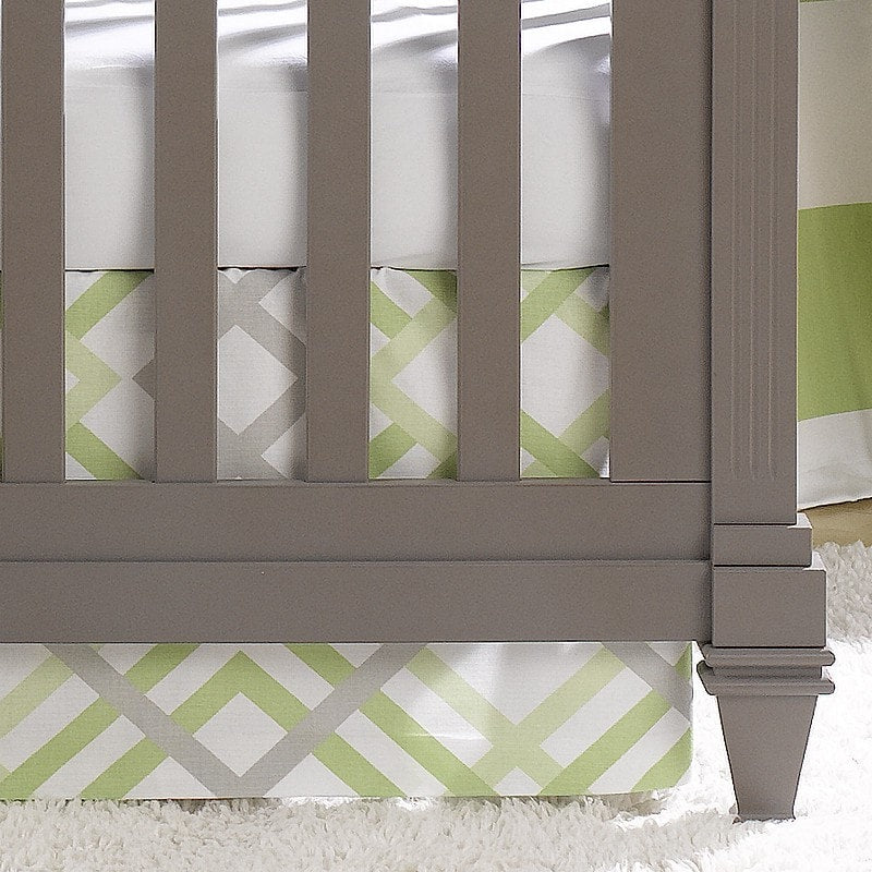 "Kiwi Easton Crib Skirt 17"" Drop - liz-and-roo-fine-baby-bedding.myshopify.com"
