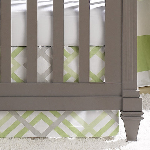 Green Crib Skirt Green Baby Bedding Usa Made Liz And