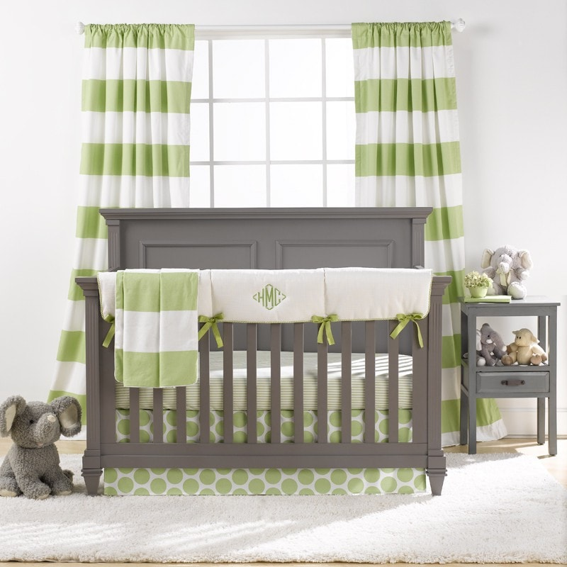 Polka Dot Baby Bedding Kiwi Green Baby Bedding Liz And